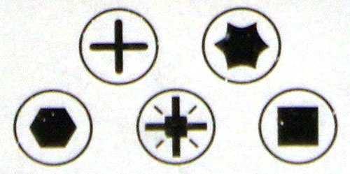 Các hình dạng đầu mũ ốc vít thông dụng