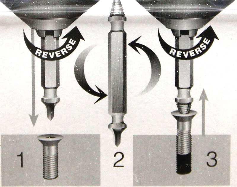 Các bước tháo ốc vít hỏng